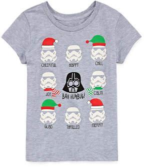 Star Wars STARWARS Holiday Graphic T-Shirt- Girls' 7-16