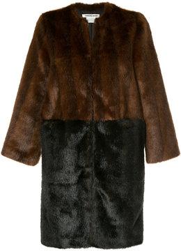 CITYSHOP two-tone faux fur coat