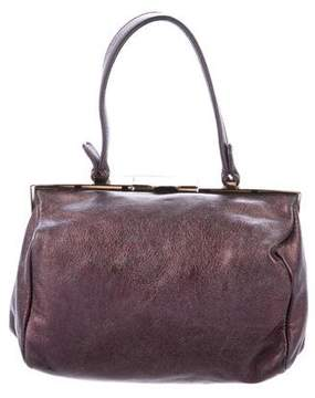 Miu Miu Leather Frame Handle Bag