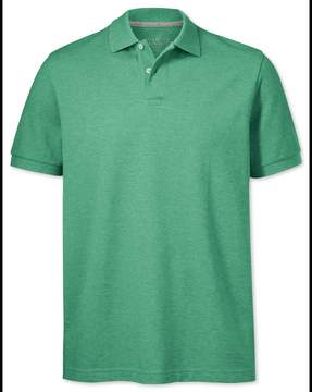 Charles Tyrwhitt Light Green Pique Cotton Polo Size Large