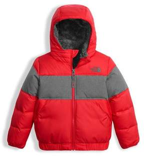 The North Face Boys' Moondoggy 2.0 Down Quilted Jacket, Red, Size 2-4T