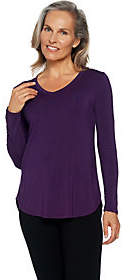 Cuddl Duds As Is Softwear Stretch Long Sleeve V-Neck Top