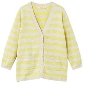 MANGO Metallic striped cardigan