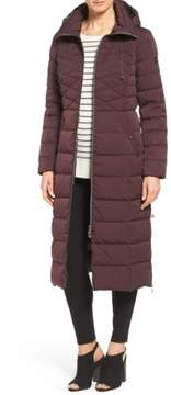 Bernardo Women's Quilted Long Coat With Down & Primaloft Fill