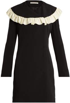 Emilia Wickstead Lisbet ruffled-bib crepe-cady dress