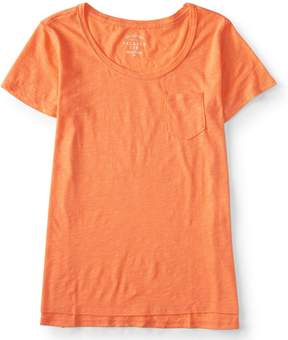 Aeropostale Seriously Soft Solid Pocket Crew Tee
