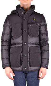Blauer Men's Black Polyamide Down Jacket.