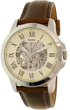Fossil Men's ME3099 Grant Leather Watch, 45mm