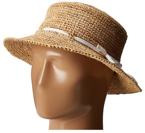 Hat Attack Raffia Drawstring Crusher