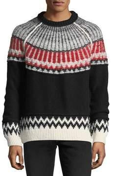 Burberry Reverse Fair Isle Cashmere Sweater