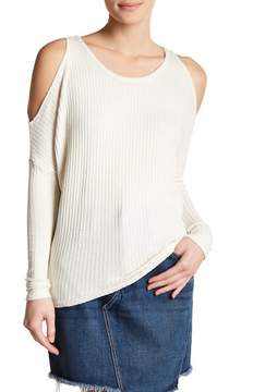 Chaser Thermal Cold Shoulder Long Sleeve Shirt