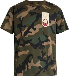 VALENTINO Camouflage-print cotton-jersey T-shirt
