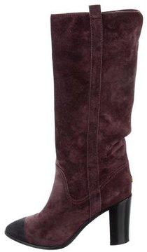 Chanel Cap-Toe Knee-High Boots
