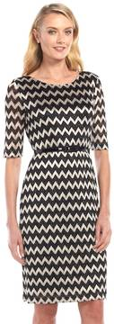 Connected Apparel Zigzag Lace Dress - Women's
