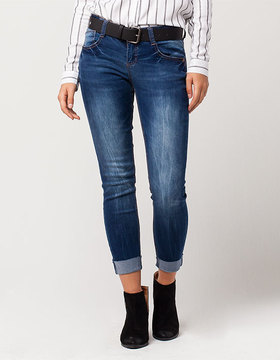 Almost Famous PREMIUM Ankle Cuff Womens Skinny Jeans