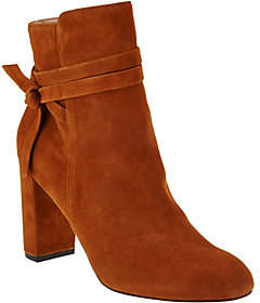 Sole Society As Is Suede Ankle Boots - Flynn