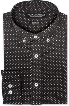 Nick Graham Men's Slim-Fit Pin Dot Dress Shirt