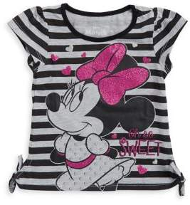 Nannette Little Girl's Tied Stripe Minnie Mouse Tee