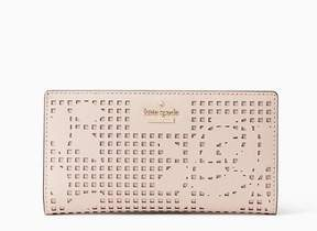 Kate Spade Women's Cameron Street Perforated Stacy Wallet, Dolce, One Size