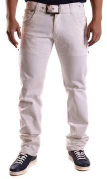 Dirk Bikkembergs Men's White Cotton Jeans.
