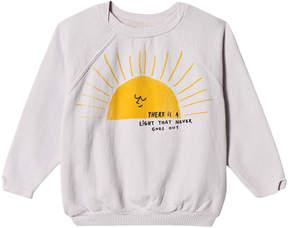 Bobo Choses Raindrop White Sun Raglan Sweatshirt