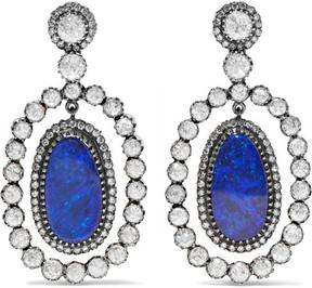 Amrapali 18-karat Gold, Silver, Opal And Diamond Earrings - Blue