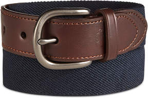 Nautica Boys' Leather & Web Belt