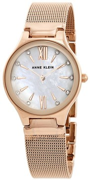 Anne Klein Mother of Pearl Crystal Dial Ladies Watch