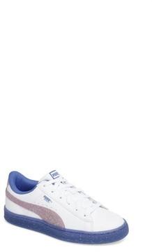 Puma Girl's Basket Iced Glitter 2 Sneaker