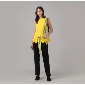 Amanda Wakeley   Sleeveless Cashmere Wrap Top In Lemon   L   Yellow