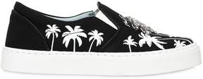 Chiara Ferragni 20mm Palms Cotton Slip-On Sneakers