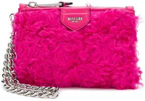 Moschino fur clutch bag