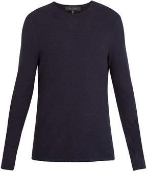 Rag & Bone Giles crew-neck ribbed-knit wool sweater
