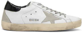 Golden Goose Deluxe Brand White and Black Superstar Sneakers
