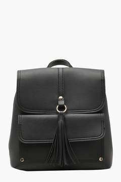boohoo Tassel & Pocket Rucksack