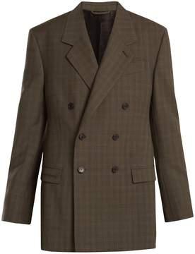 Balenciaga Prince of Wales-checked wool blazer
