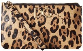 Dolce & Gabbana Stampa Dauphine Logo Zip Mini Bag Handbags - LEOPARD PRINT - STYLE