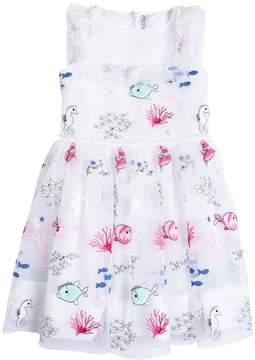 Simonetta Embroidered Organza Party Dress