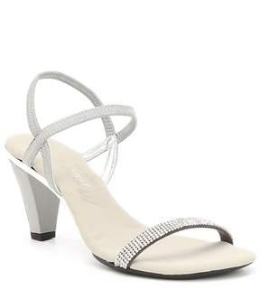 Onex Iced Rhinestone Embellished Leather Dress Sandals