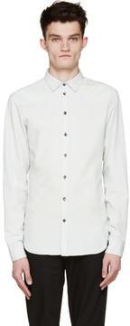 Pierre Balmain Mint Chambray Button-Up Shirt