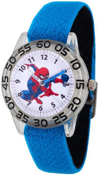 Marvel Spiderman Boys Blue Strap Watch-Wma000173