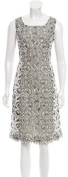 Andrew Gn Mesh-Paneled Patterned Dress w/ Tags