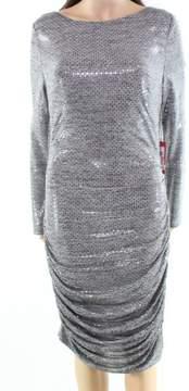 Vince Camuto Women's Sequin Body-Con Dress (Grey, 10)