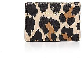 Kate Spade Hyde Lane Leopard Print Leather Card Case - CLASSIC CAMEL MULTI/GOLD - STYLE