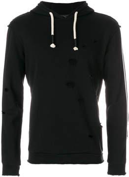 Daniele Alessandrini stripe detail hoodie