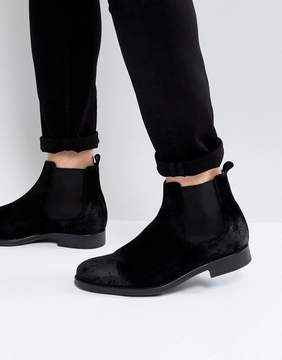 Selected Oliver Suede Chelsea Boots In Black