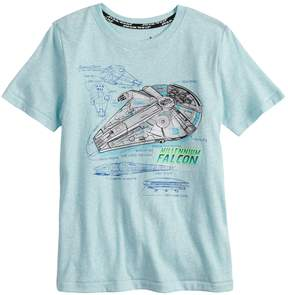 Star Wars A Collection For Kohls Boys 4-7x a Collection for Kohl's Millennium Falcon Snow Nep Graphic Tee