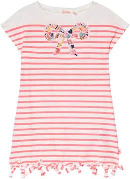 Billieblush Pink Stripe Beaded Bow Detail Jersey Dress