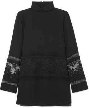 Chloé Lace-paneled Cady Tunic - Black