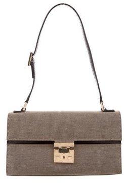 Gucci Vintage Canvas Shoulder Bag